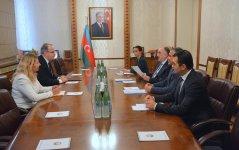 Azerbaijani FM receives newly appointed Latvian ambassador (PHOTO) - Gallery Thumbnail