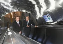 President Ilham Aliyev views work done at Khatai station of Baku Metro (PHOTO) - Gallery Thumbnail