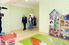 First Vice-President Mehriban Aliyeva attended opening of kindergarten in Ismayilli - Gallery Thumbnail