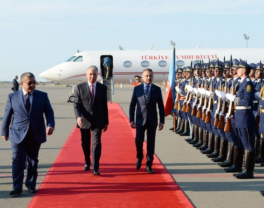 Turkish Vice President arrives in Azerbaijan for official visit