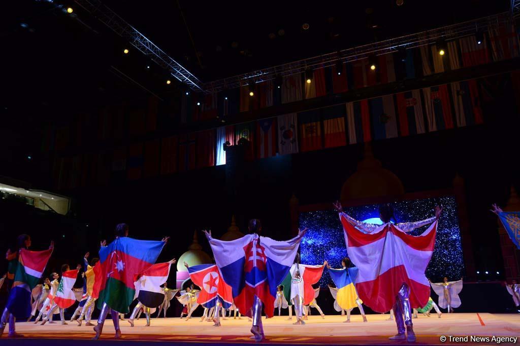 Феерическая церемония торжественного открытия 37-го Чемпионата мира по художественной гимнастике в Баку (ФОТО/ВИДЕО)