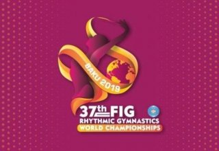 Russian team wins gold at 37th Rhythmic Gymnastics World Championships in group exercises with 3 hoops, 2 pairs of clubs