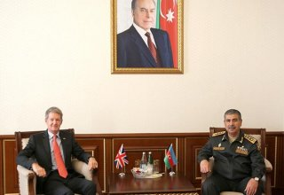 Azerbaijan's defense minister meets newly appointed UK ambassador (PHOTO)