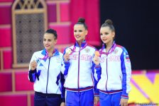 Baku hosts award ceremony for winners in finals of individual exercises at 37th  Rhythmic Gymnastics World Championships - Gallery Thumbnail