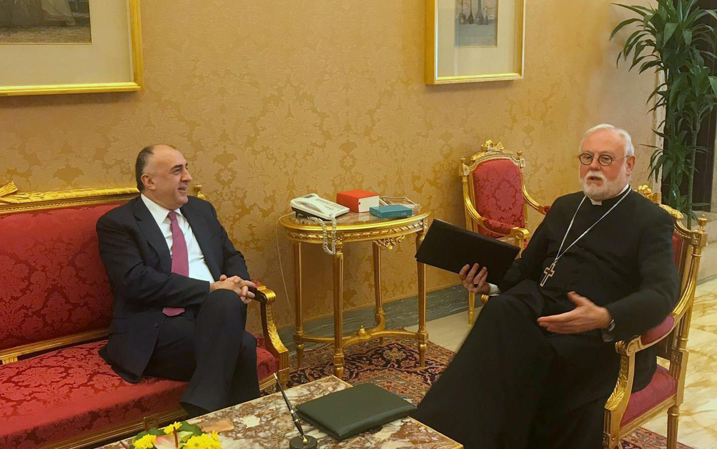 Azerbaijani FM meets Holy See's secretary in Vatican (PHOTO) - Gallery Image