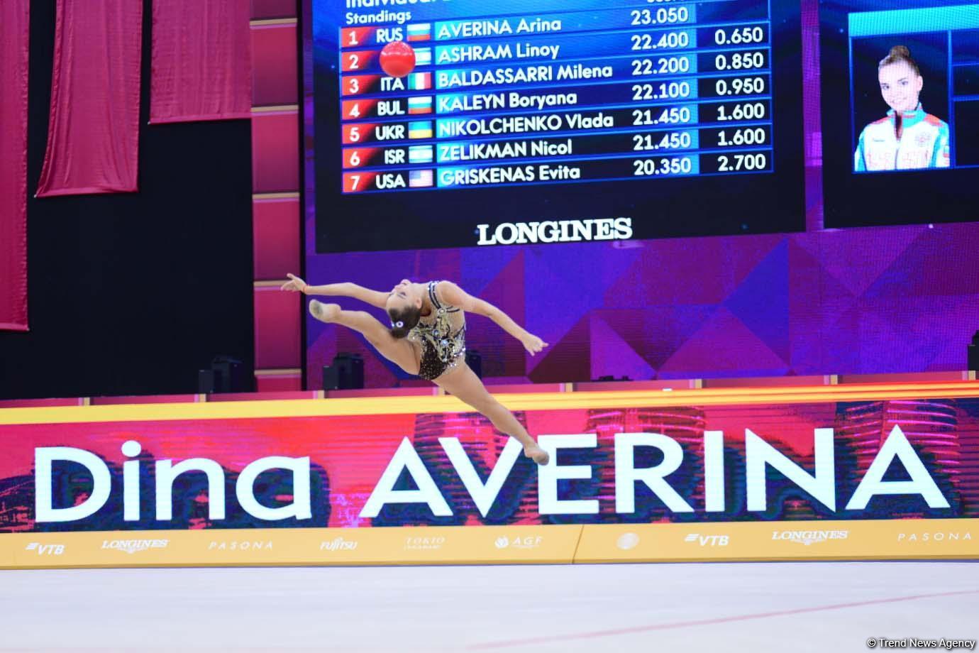 В Баку стартовали финалы 37-го Чемпионата мира по художественной гимнастике (ФОТО) - Gallery Image