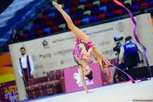 Bakıda keçirilən Bədii Gimnastika üzrə Dünya Çempionatının üçüncü günündən ən maraqlı anlar (FOTO) - Gallery Thumbnail