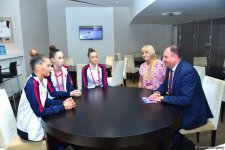 Moldovan ambassador to Azerbaijan meets athletes at the 37th Rhythmic Gymnastics World Championships (PHOTO) - Gallery Thumbnail