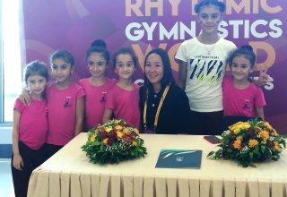 Milli Gimnastika Arenasında Aliyə Qarayeva ilə görüş keçirilib (FOTO)