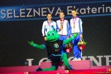 Bakıda bədii gimnastika üzrə dünya çempionatı finallarının qalibləri mükafatlandırılıb (FOTO) - Gallery Thumbnail