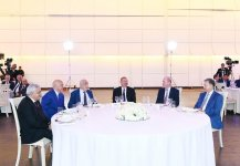 President Ilham Aliyev attended ceremony to mark 25th anniversary of Contract of the Century and Oil Workers Day (PHOTO) - Gallery Thumbnail
