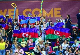 Highlights of World Championships in Baku - spectators in stands (PHOTO)