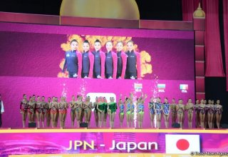 Japanese team wins gold at 37th Rhythmic Gymnastics World Championships in group exercises with 5 balls