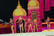 Team competitions in group exercises underway at 37th Rhythmic Gymnastics World Cup in Baku (PHOTO) - Gallery Thumbnail