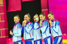 Awarding ceremony held for winners of group exercises at 37th Rhythmic Gymnastics World Championships in Baku (PHOTO) - Gallery Thumbnail