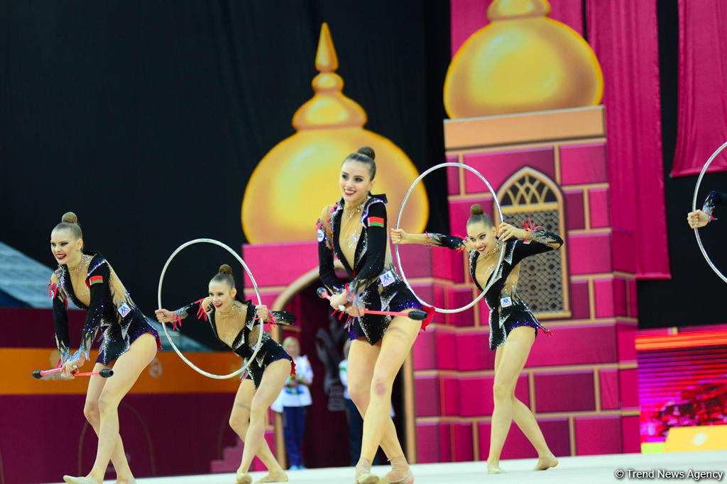Team competitions in group exercises underway at 37th Rhythmic Gymnastics World Cup in Baku (PHOTO) - Gallery Image
