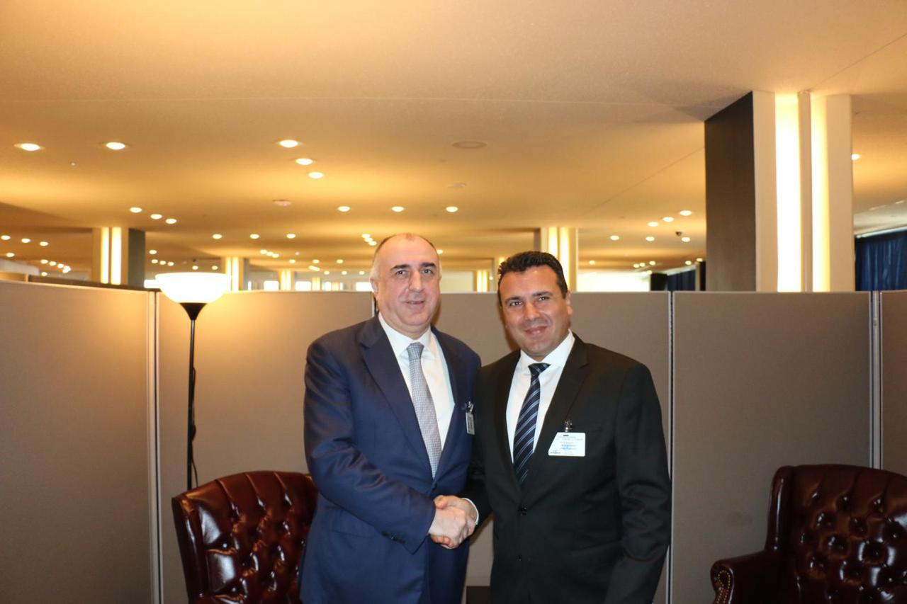 Elmar Mammadyarov meets with the PM of the Republic of North Macedonia (PHOTO) - Gallery Image