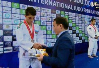 Erməniyə qalib gələn cüdoçumuz dünya birinciliyinin gümüş medalını qazanıb (FOTO)