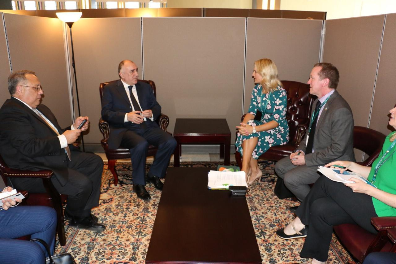 Azerbaijani FM meets with Minister for European Affairs of Ireland (PHOTO)