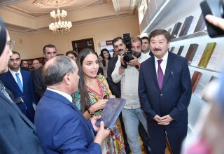 """Heydar Aliyev Foundation VP attends opening of """"Nasimi Manuscripts in World Libraries"""" exhibition (PHOTO)"""