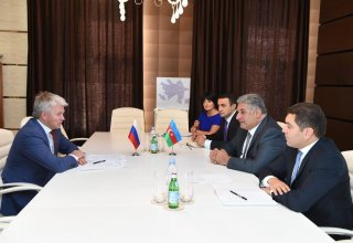 Azerbaijani Minister of Youth and Sports meets Russian counterpart (PHOTO)