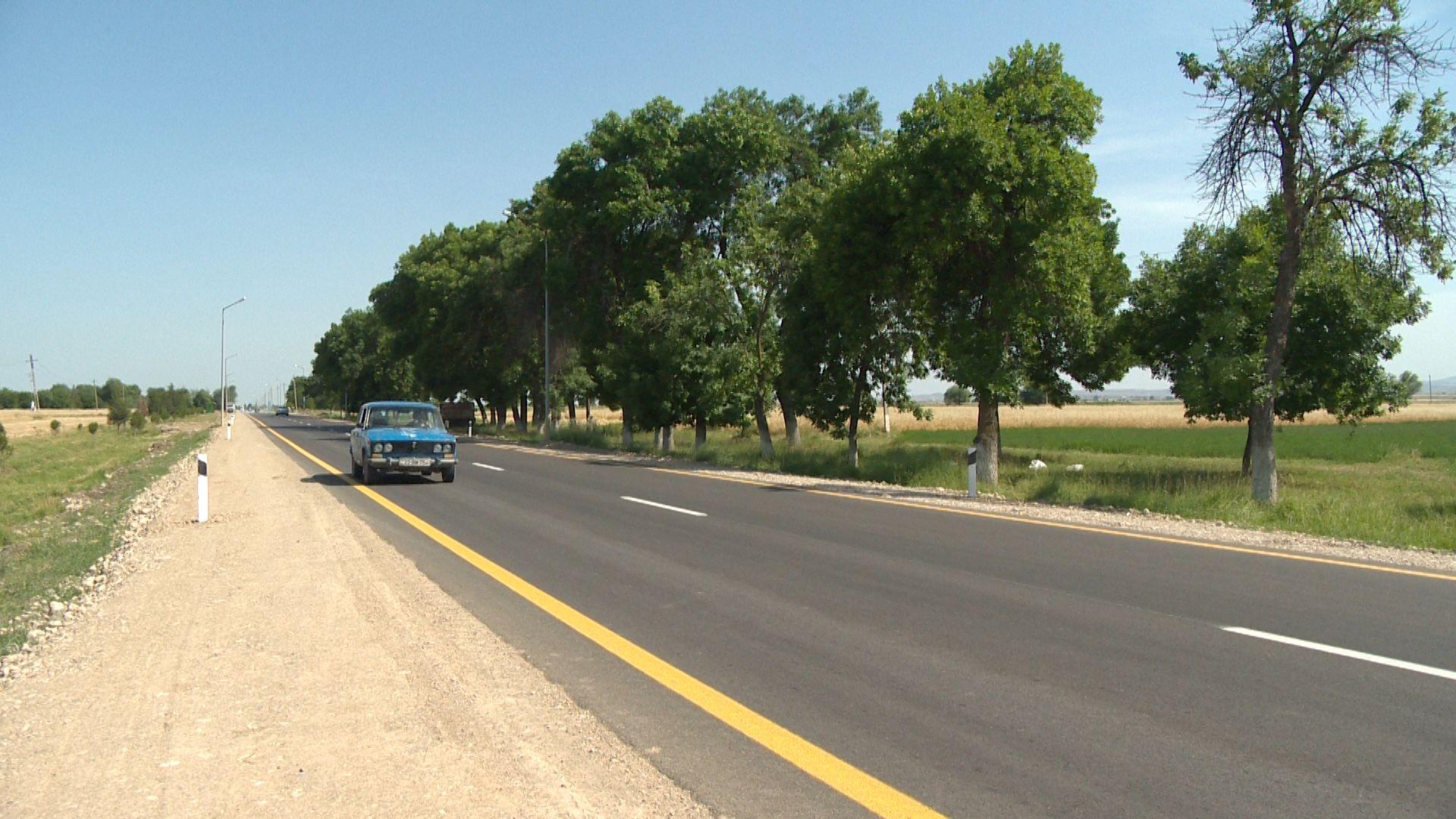 Goranboyda 5 istiqamət üzrə avtomobil yolu yenidən qurulub (FOTO) - Gallery Image