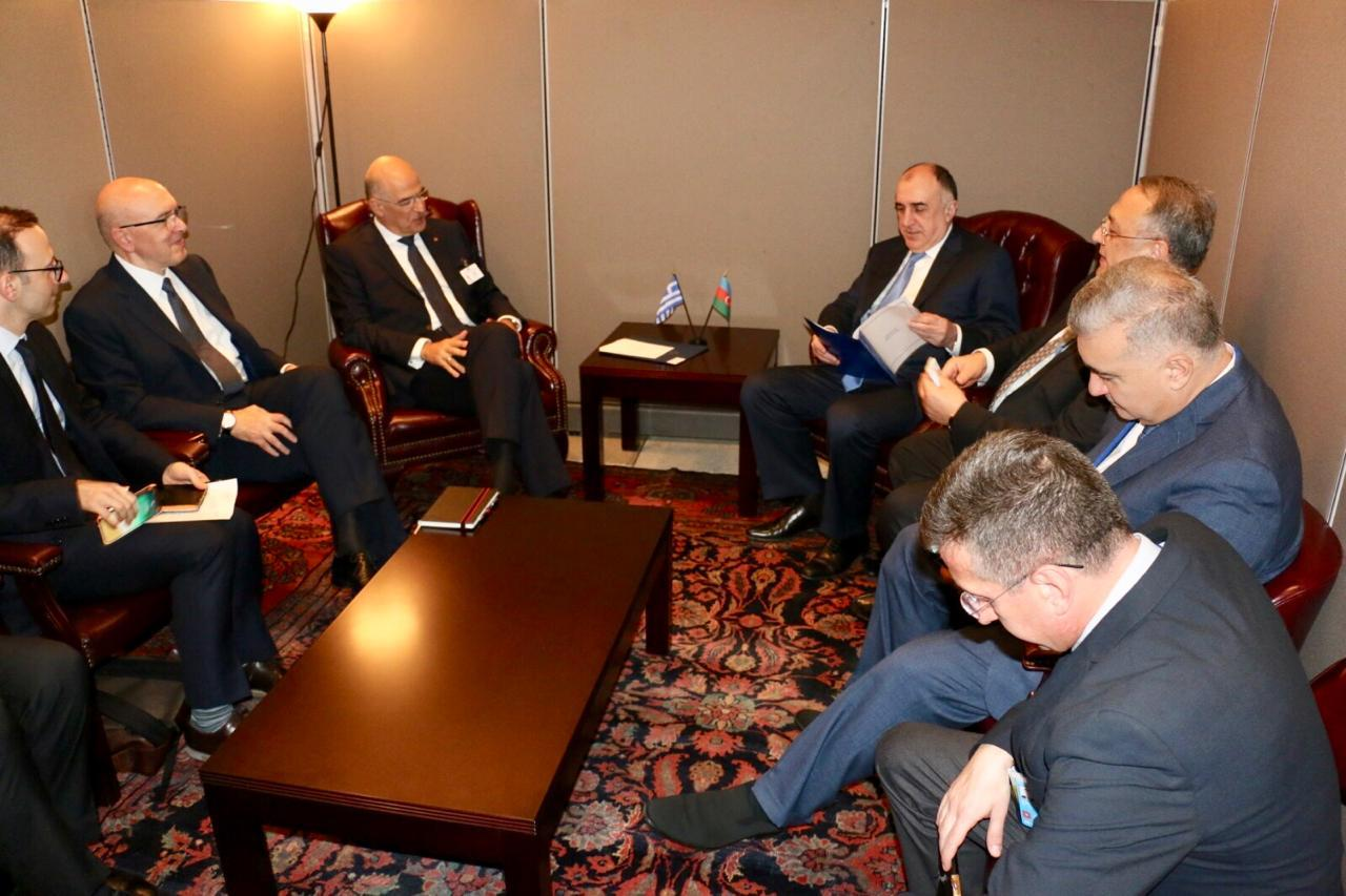 Azerbaijani FM meets with his Greek counterpart (PHOTO) - Gallery Image