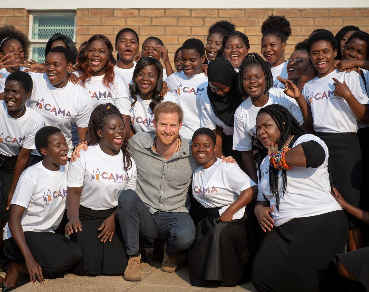Britain's Prince Harry visits Malawi college