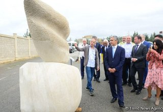 Sculptures by participants of int'l symposium presented as part of Nasimi Festival (PHOTO)
