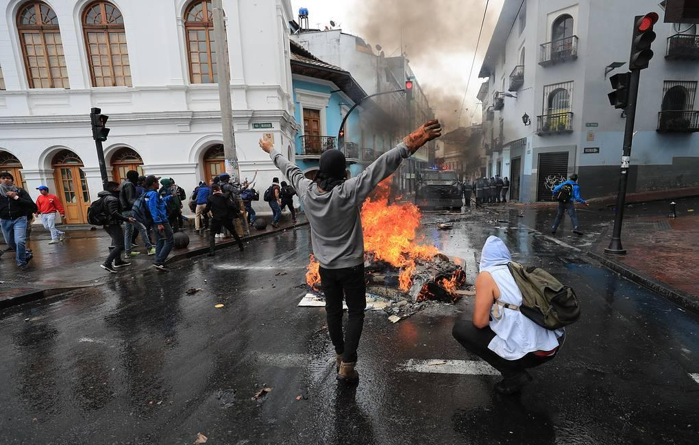At least one protester killed in Ecuador in anti-austerity march