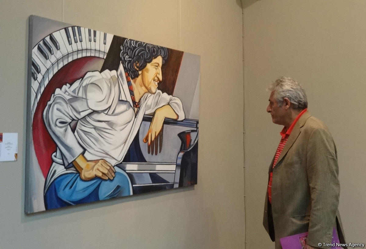 Художник, что рисует джаз – выставка Вугара Али в Баку (ФОТО) - Gallery Image