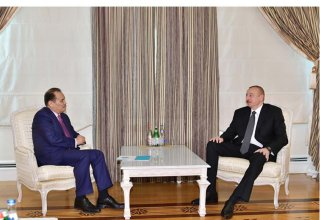President Ilham Aliyev receives Secretary General of Cooperation Council of Turkic-Speaking States (PHOTO)