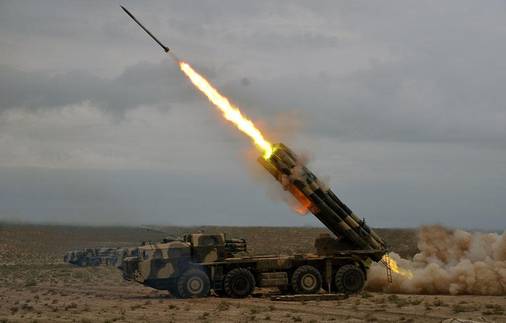 Rocket, artillery units of Azerbaijani army conduct live-fire training (PHOTO/VIDEO) - Gallery Image