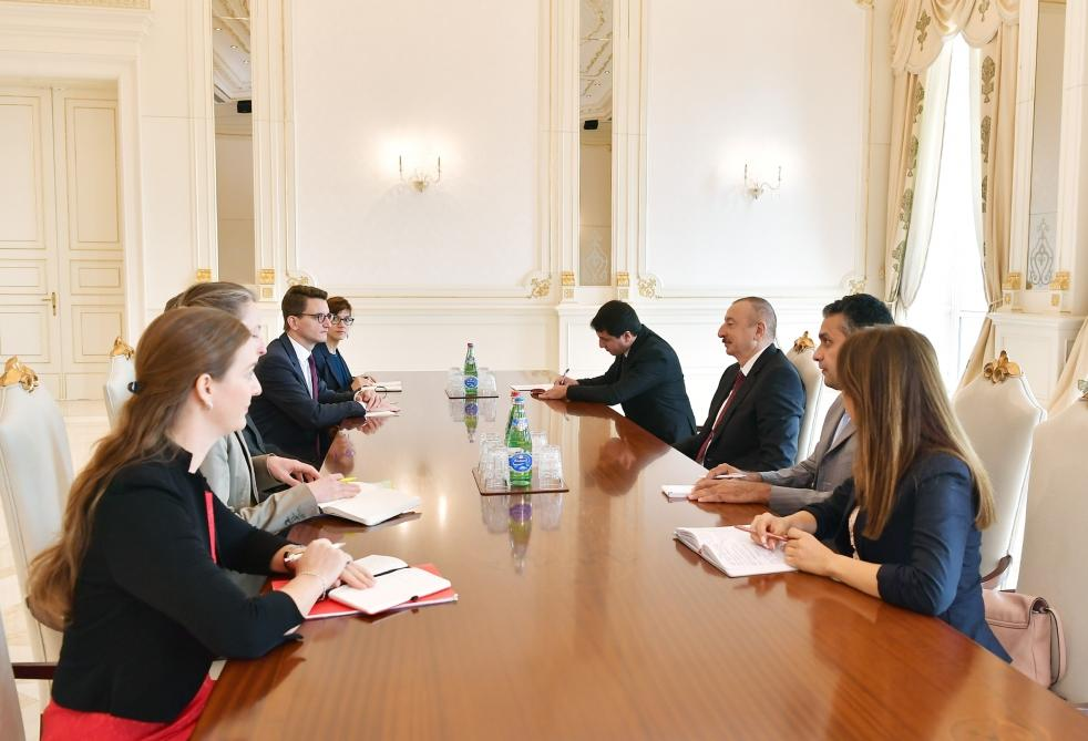 President Ilham Aliyev receives delegation led by president of Swiss Council of States (PHOTO) - Gallery Image