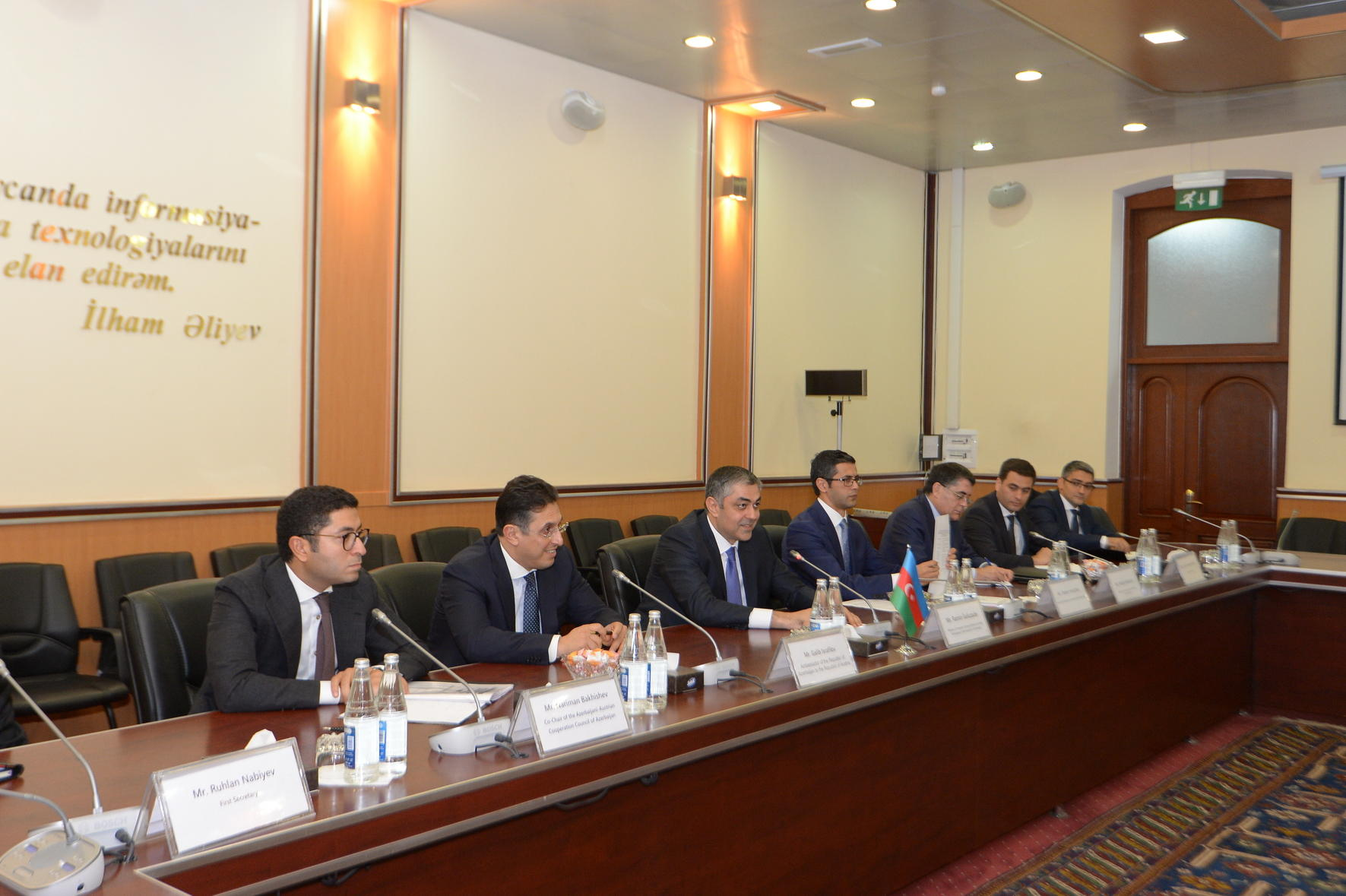 Azerbaijani communication minister meets Austrian delegation (PHOTO)