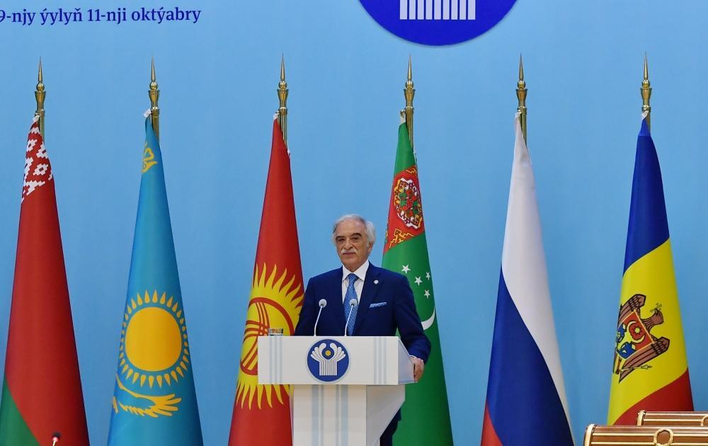 Президент Ильхам Алиев принял участие в заседании Совета глав государств СНГ в расширенном составе в Ашгабаде (ФОТО) - Gallery Image