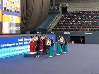 Awarding ceremony held for winners of 26th Azerbaijan and Baku Championships in Rhythmic Gymnastics and 5th Azerbaijan and Baku Championships in Aerobic Gymnastics - Gallery Thumbnail
