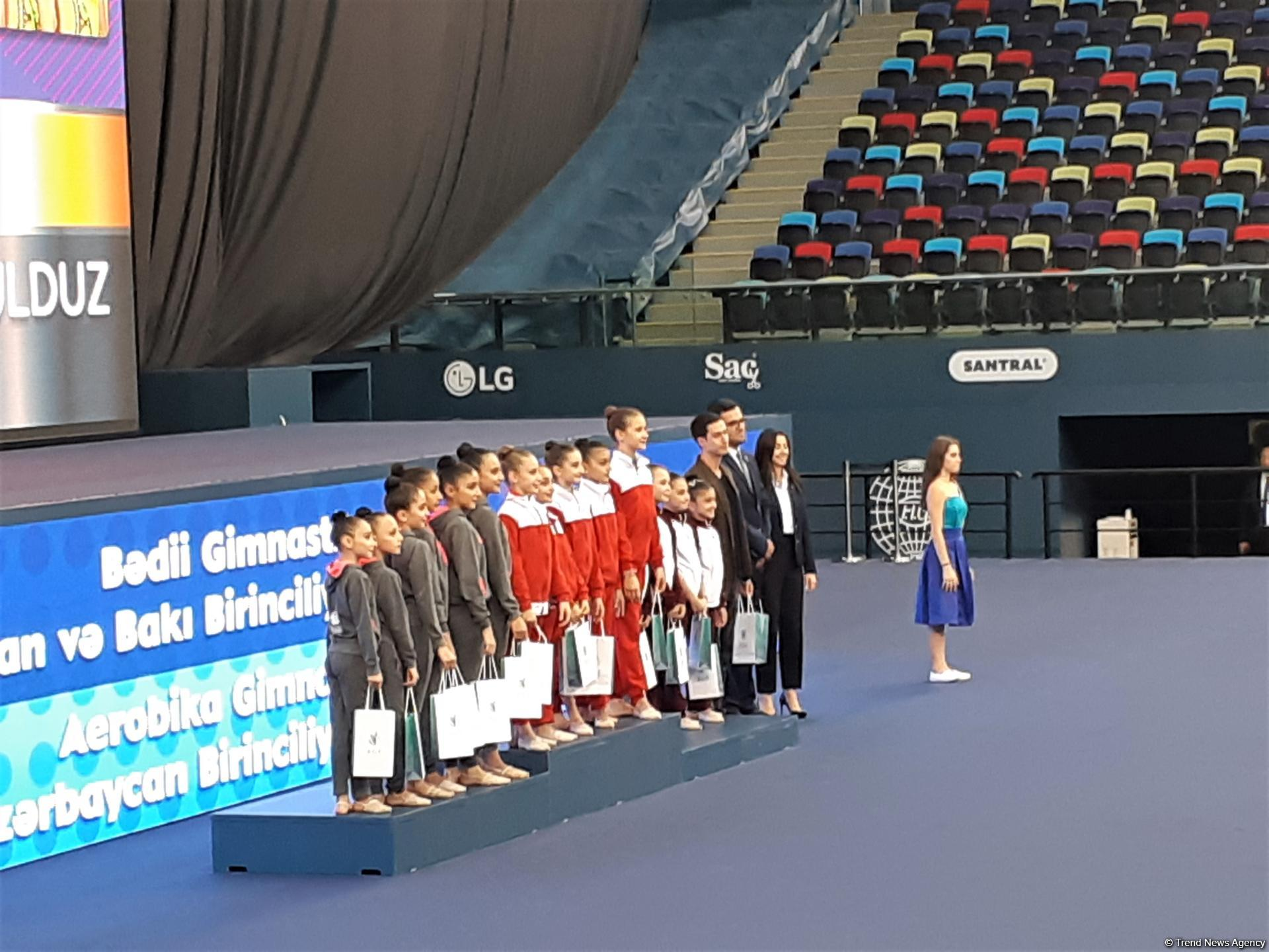 Awarding ceremony held for winners of 26th Azerbaijan and Baku Championships in Rhythmic Gymnastics and 5th Azerbaijan and Baku Championships in Aerobic Gymnastics - Gallery Image