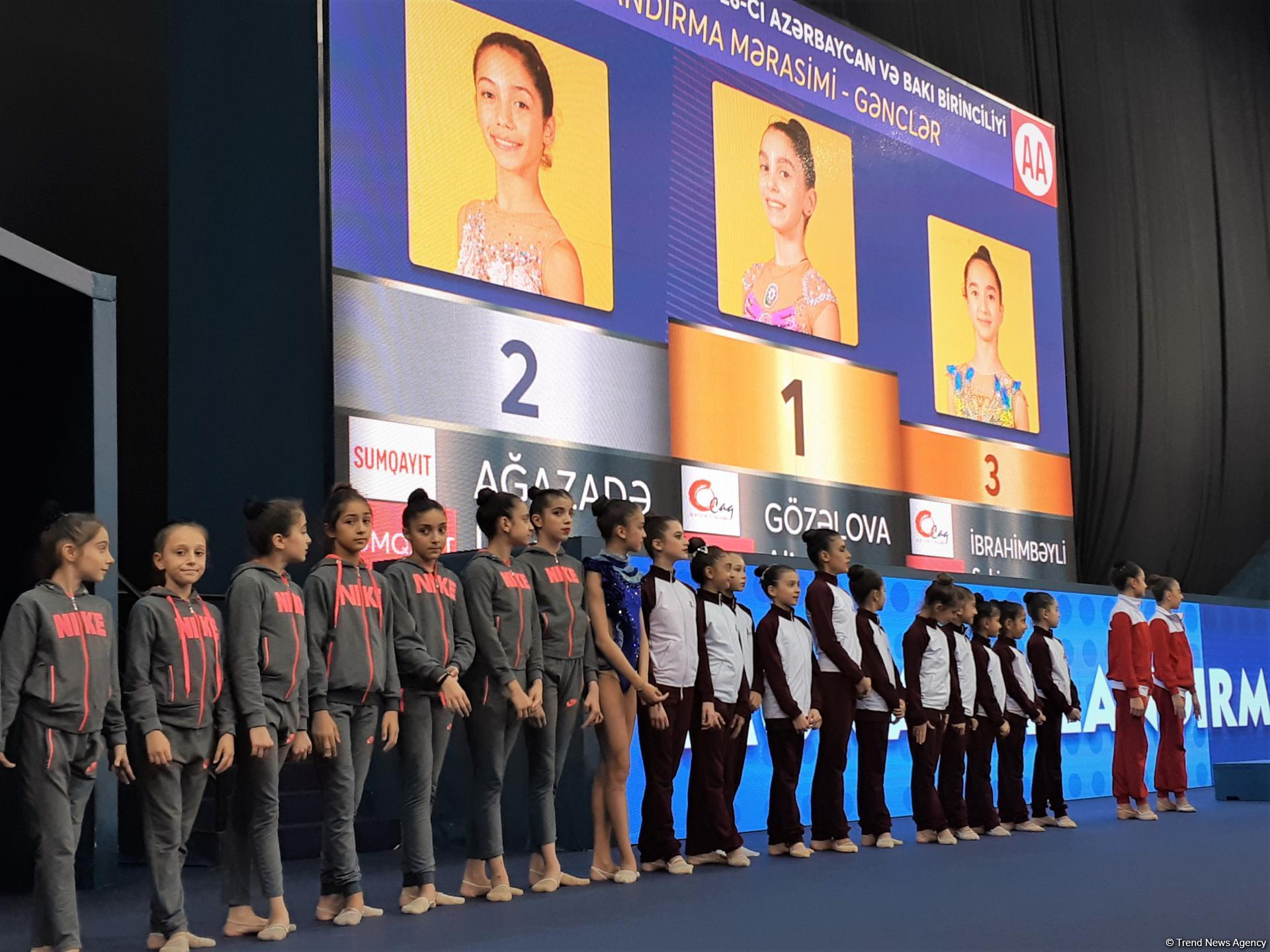 Awarding ceremony held for winners of 26th Azerbaijan and Baku Championships in Rhythmic Gymnastics (PHOTO)