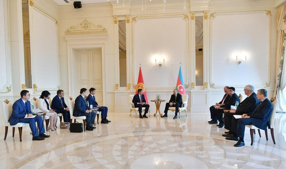 Azerbaijani president meets with Kyrgyz counterpart (PHOTO) - Gallery Image