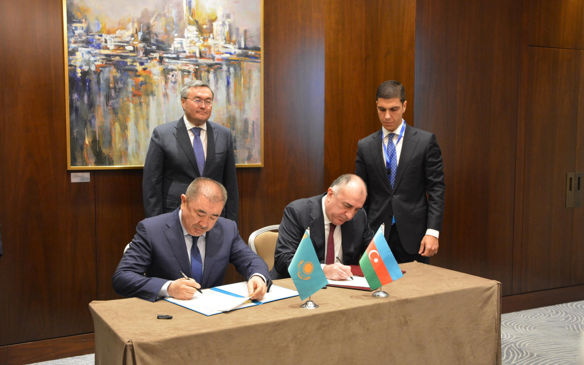 Azerbaijani FM meets with Kazakh counterpart in Baku (PHOTO) - Gallery Image