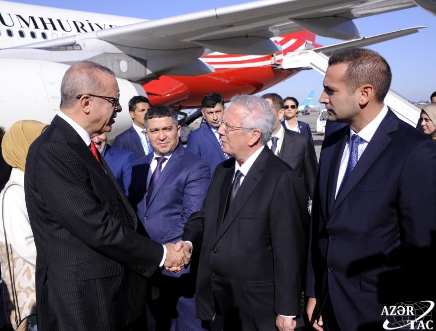 Turkish President Recep Tayyip Erdogan arrives in Azerbaijan for visit (PHOTO) - Gallery Image
