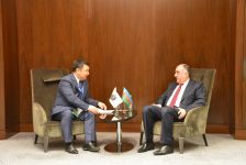 Azerbaijani FM meets president of Int'l Turkic Academy (PHOTO) - Gallery Thumbnail