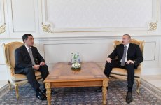 President Ilham Aliyev receives credentials of incoming Kazakh ambassador (PHOTO) - Gallery Thumbnail