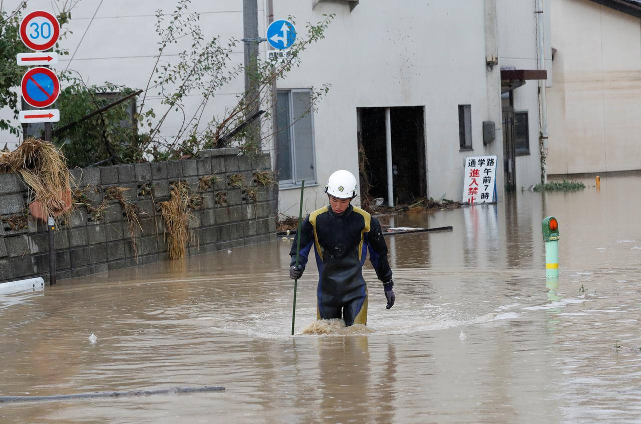Japan typhoon death toll rises to 58 as hopes for missing fade