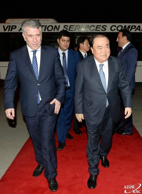 Speaker of Republic of Korea National Assembly embarks on official visit to Azerbaijan