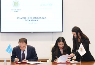 Heydar Aliyev Foundation, UNICEF sign MoU (PHOTO)