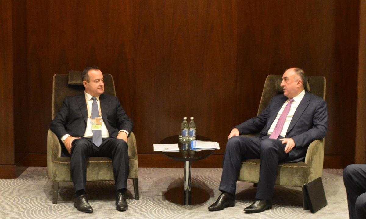 Эльмар Мамедъяров встретился с министром иностранных дел Сербии (ФОТО) - Gallery Image