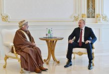 President Ilham Aliyev receives delegation led by President of Oman State Council (PHOTO) - Gallery Thumbnail