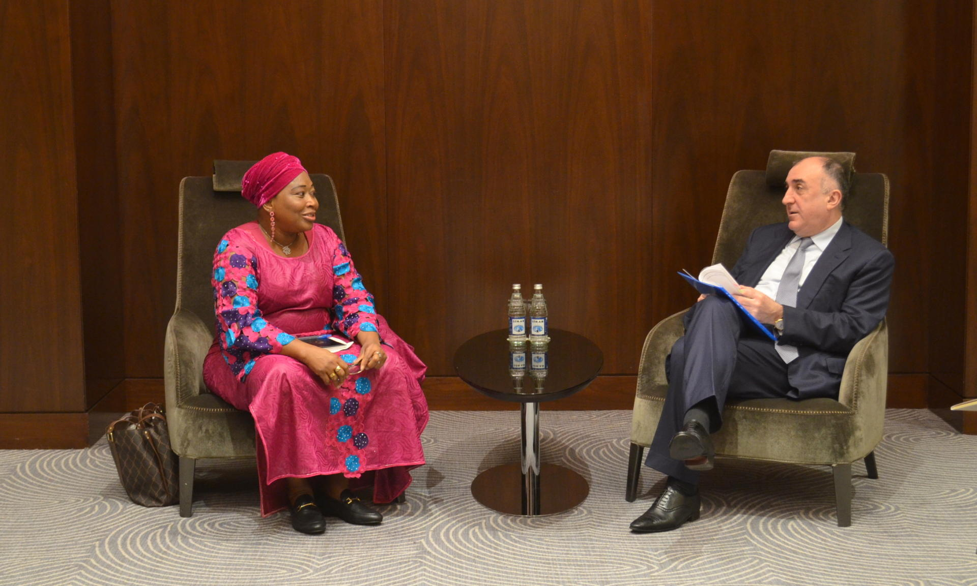 Azerbaijani FM meets commissioner for political affairs of African Union Commission (PHOTO) - Gallery Image